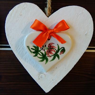 Giglio Martagone Decori Ceramiche Lazzara Paluzza