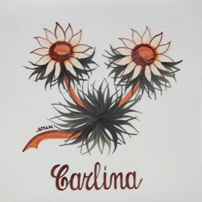 Carlina Decori Ceramiche Lazzara Paluzza