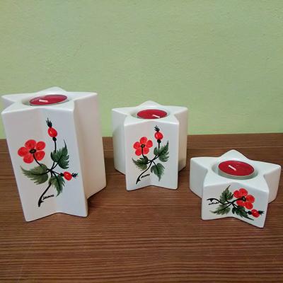 Rosa Pomifera Decori Ceramiche Lazzara Paluzza