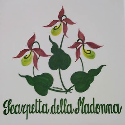 Scarpetta della Madonna Decori Ceramiche Lazzara Paluzza